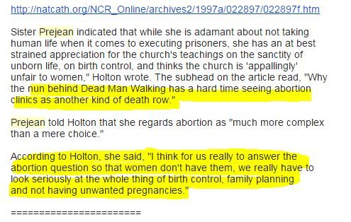 Prejean Abortion