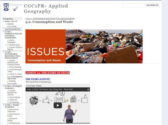 OCSB Story of Stuff