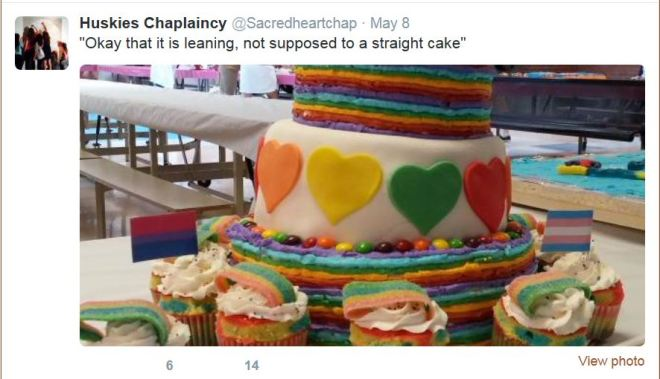 Rainbow Cake Not Straight