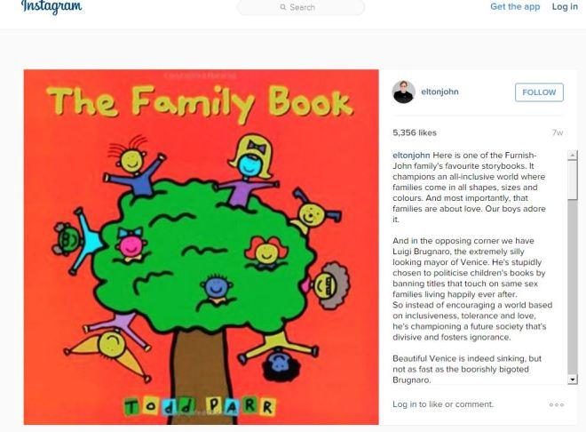 Elton John's Fave Family Book