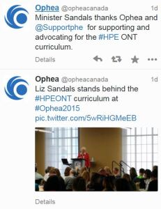 OPHEA and Minister Liz Scandals