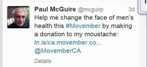 Paul McGuire OCSB Principal St Anthony Movember