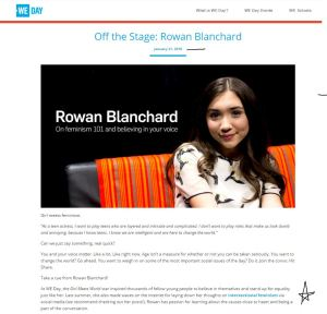 Rowan Blanchard Intersectional Feminism
