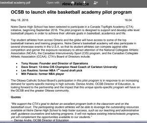 OCSB Basketball