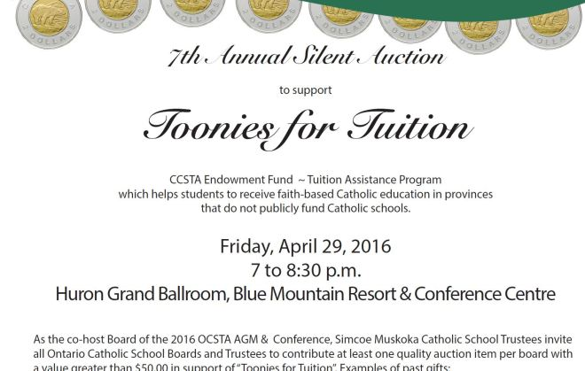 Toonies for Tuition